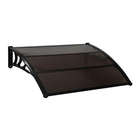 Door Canopy Black 120x100 Cm Pc 1 item