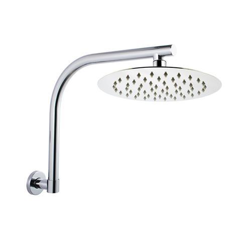 200 Mm Round Chrome Super Slim Shower Head Wall Swivel Shower Arm Set 1 item