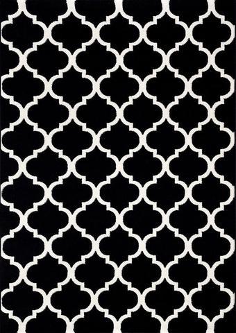 Lorenza Black Trellis Rug 80x300