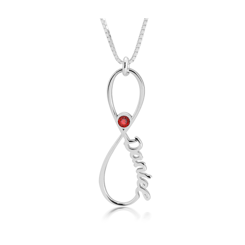 Infinity Birthstone Necklace 1 item