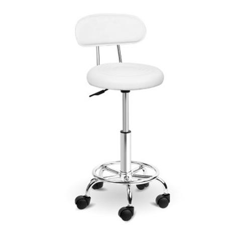 Swivel Pu Leather Salon Stool - White 1 item