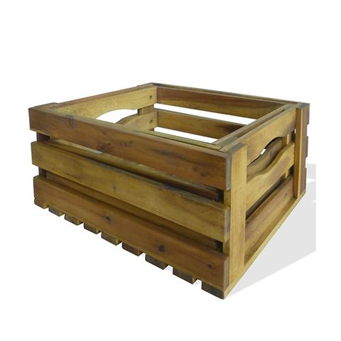 Apple Crates 2 Pcs Solid Acacia Wood 1 item