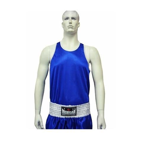 Morgan Boxing Singlet Blue M