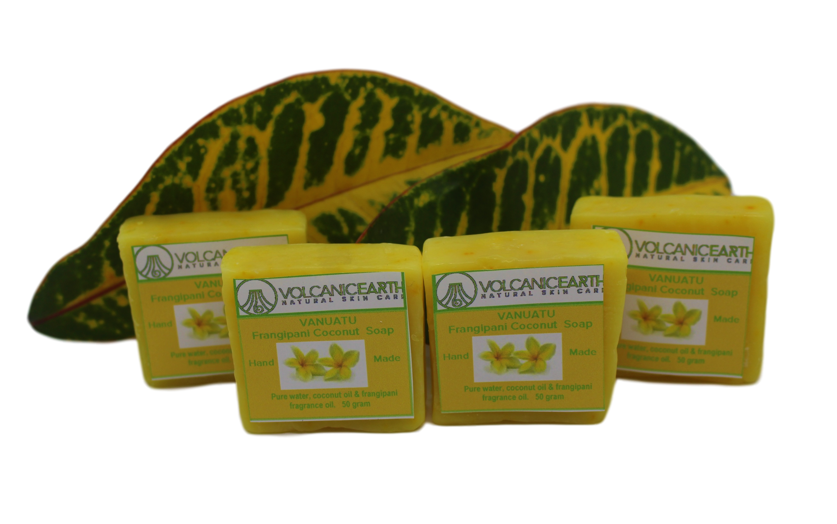 Volcanic Earth Frangipani - Pack of 4 (small) Soaps