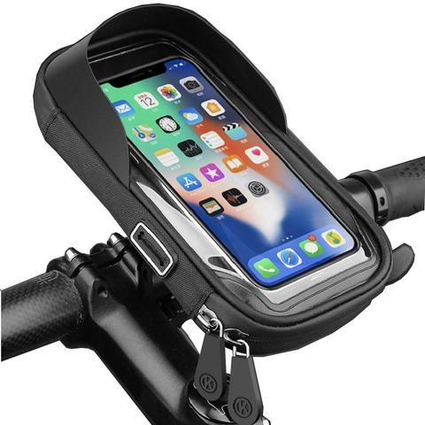 Waterproof Bicycle Phone Holder Stand red 1 item