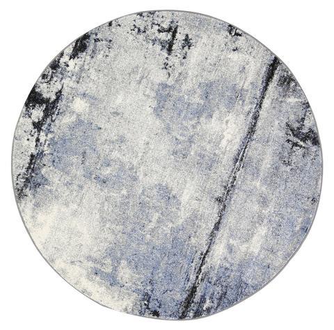 Vision Raw Blue Grey Round Rug 160 cm Round