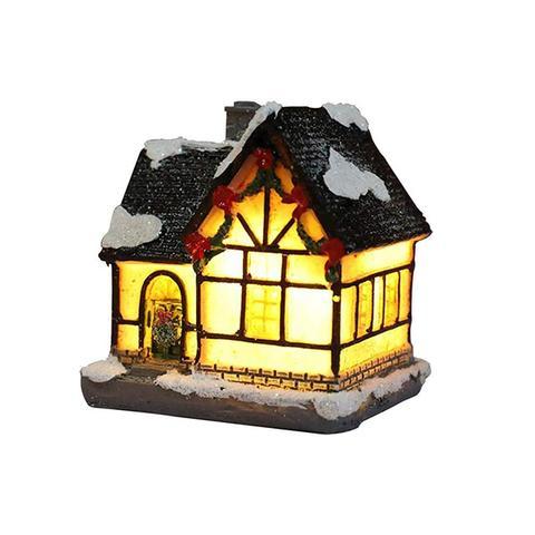 Christmas Decoration Resin Little House 1 item
