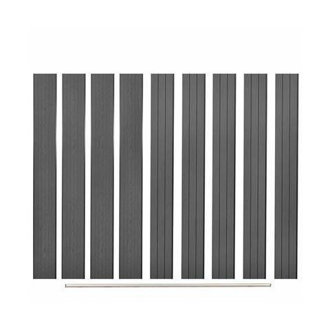 Replacement Fence Boards 9 Pcs Wpc 170 Cm Grey 1 item