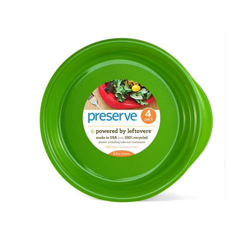 Preserve Everyday Plates Apple Green (4 X9.5 In)