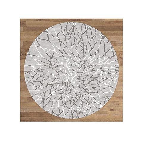 Lotus Grey Round Rug 240 x 240 cm