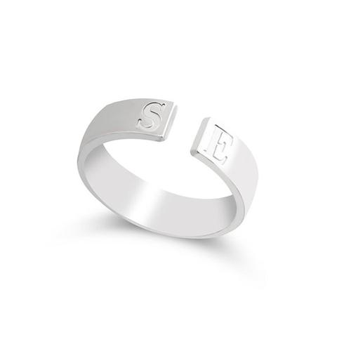 Open Ring With Initials 1 item