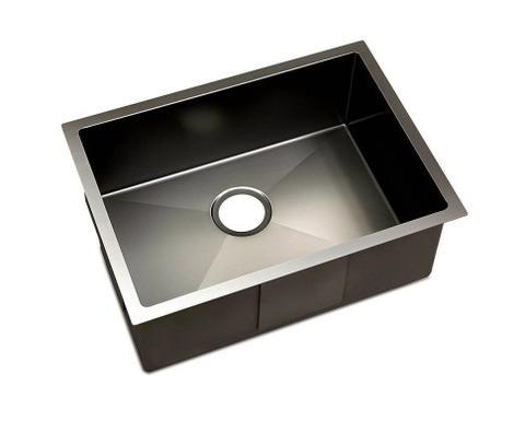Kitchen Sink With Waste Strainer Black - 60 X 45cm 1 item
