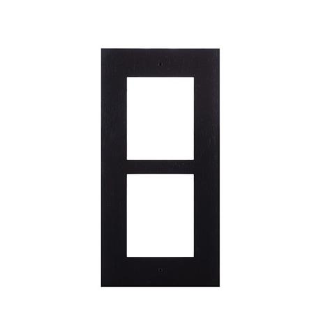 2n Ip Verso Frame For Flush Installation 2 Modules Black 1 item