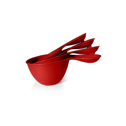 Preserve Measuring Cups Set Red Tomato (4 Measuring Cups)