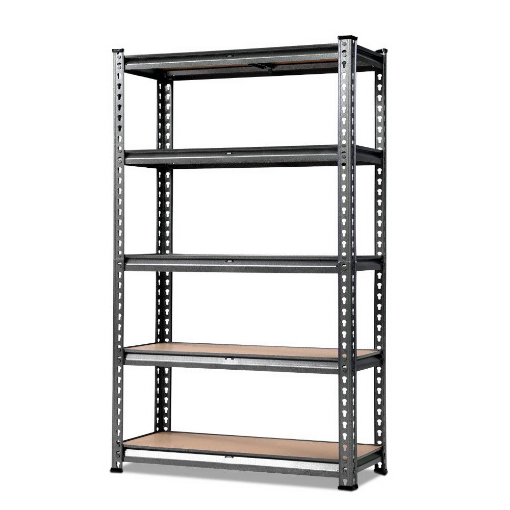 0.9m 5-shelves Steel Warehouse Shelving Racking Garage Storage Rack Grey