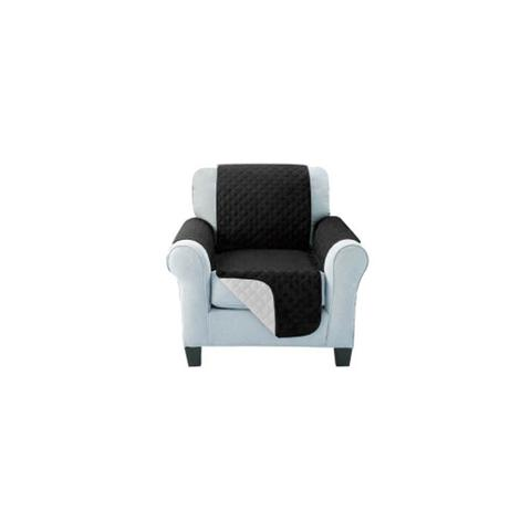 Sofa Cover Quilted Couch Covers Protector Slipcovers Black 2-Seater
