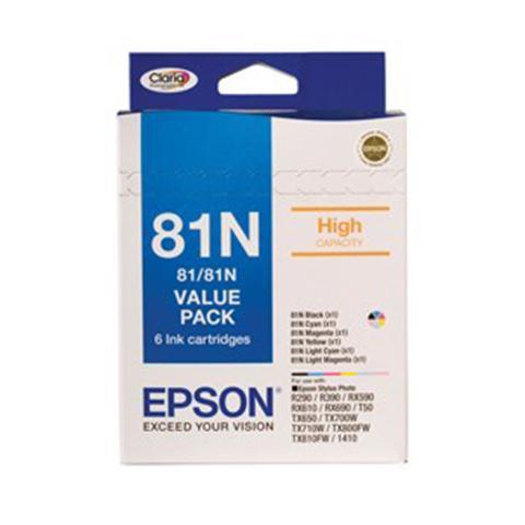 Epson 81n Bundle Pack 6 High Capacity Inks T111192 T111692 1 item