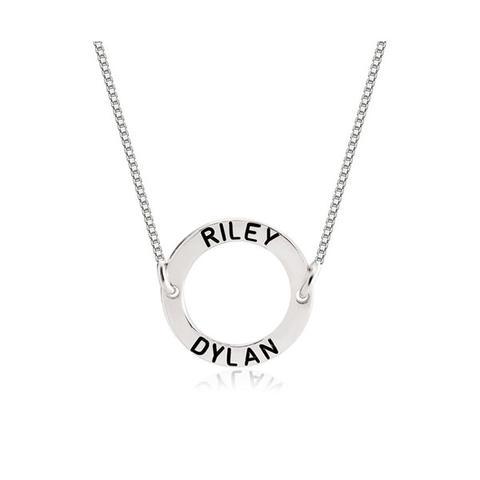Personalized Circle Pendant Necklace 1 item