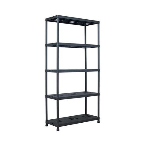 Storage Shelf Rack Black 260 Kg 90x40x180 Cm Plastic 1 item