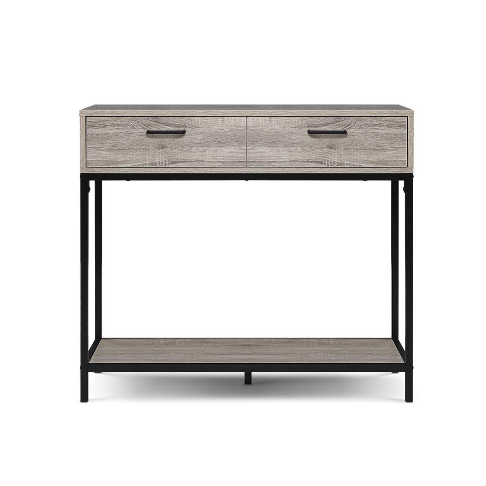 Artiss Hallway Console Table Hall Side Entry Display Desk Drawer Storage Oak