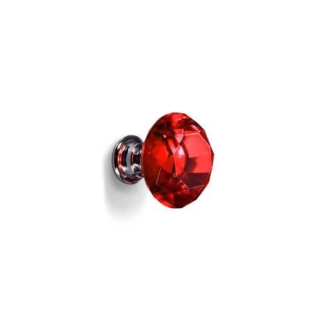 16 Pcs Red Crystal Knobs Diamond 30mm Diameter Door Cabinet Handle 1 item