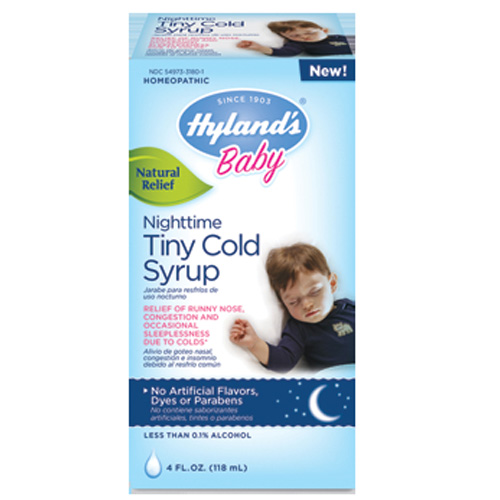 Hylands Homepathic Cold Syrup Nighttime Tiny Baby (4 Fl Oz)