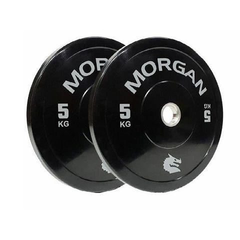Morgan 5kg Olympic Bumper Plates Pair 1 item