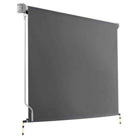 Retractable Roll Down Awning - Grey 2.1 x 2.5 m