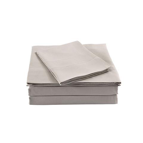 Royal Comfort Bamboo Blended Sheet Set 1000tc Ultra Soft Warm Grey Double