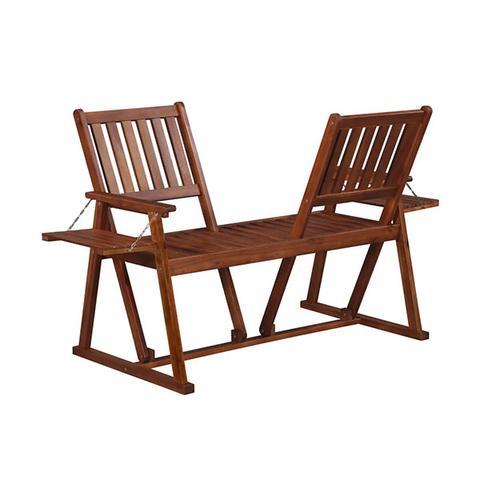 Garden Bench 165 Cm Solid Acacia Wood 1 item
