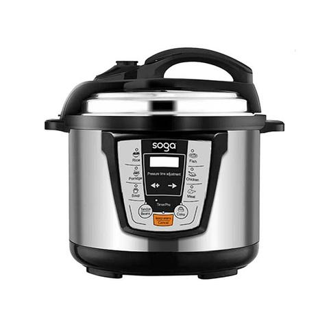 Soga Electric Stainless Steel Pressure Cooker 10l 1600w Multicooker 16 1 item