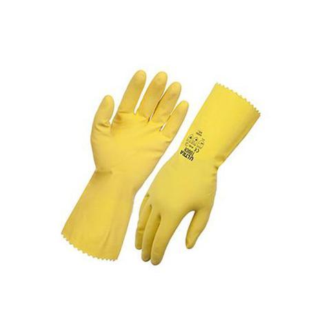 Flocklined Rubber Gloves (dishwash Gloves) 10 (Extra Large)