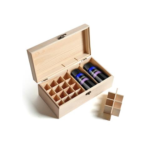 Essential Oil Storage Box Wooden 25 Slots Aromatherapy Container 1 item