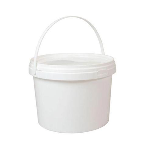 1200ml Plastic White Buckets Handle Lid Small Large Food Grade Storage 1 item
