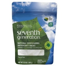 Seventh Generation Natural Dishwasher Detergent Pacs Free & Clear (12x20 Ct)