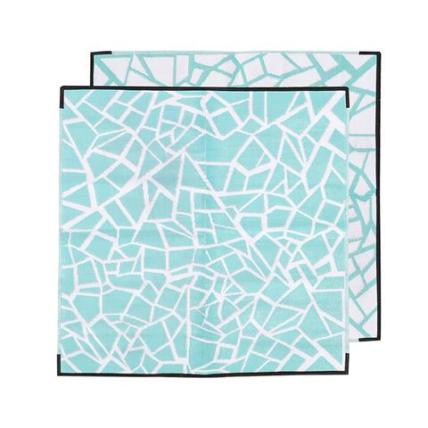 Jagga Mint Recycled Plastic Mat Mint And White 1 item