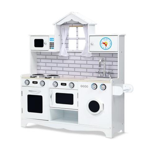 Kids Kitchen Set Pretend Play Food Sets Utensils Toys White 1 item