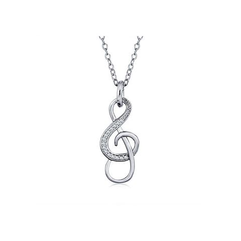 Cubic Zirconia Sol Necklace 1 item