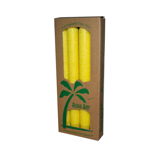 Aloha Bay Palm Tapers Yellow Candle Unscented (4 Candles)
