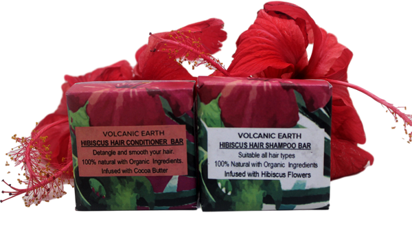 Volcanic Earth Hibiscus Hair Care Pack