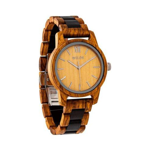 Mens Handmade Engraved Ambila Wooden Timepiece 1 item