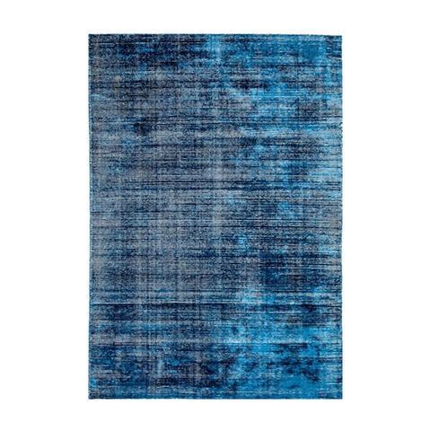 Hampton Indigo White Wool Rug 200 x 290 cm