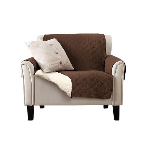 1 Seater Sofa Covers Quilted Couch Lounge Protectors Slipcovers Brown 1 item