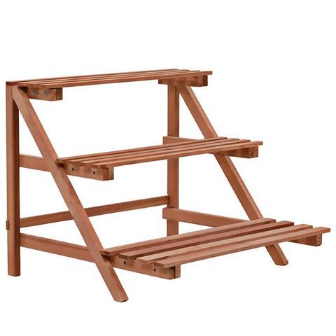 3 Tier Cedar Wood Plant Stand 48x45x40cm 1 item
