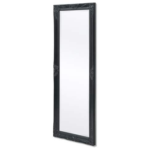 Wall Mirror Baroque Style 140 X 50 Cm Black 1 item