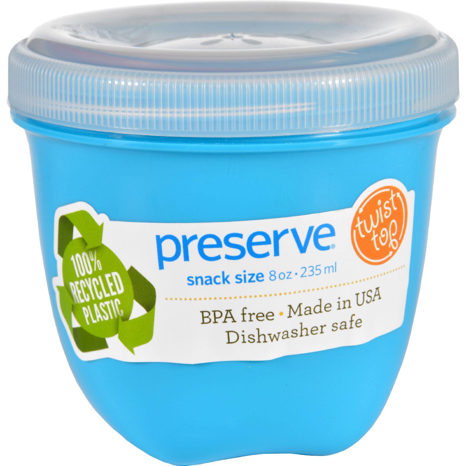 Preserve Food Storage Container  Round  Mini  .aqua  8 Oz  1 Count  Case of 12