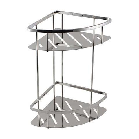 Stainless Steel 2 Tier Shower Caddy Shelf Chrome