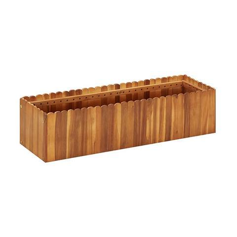 Garden Planter 100 X 30 X 25 Cm Solid Acacia Wood 1 item
