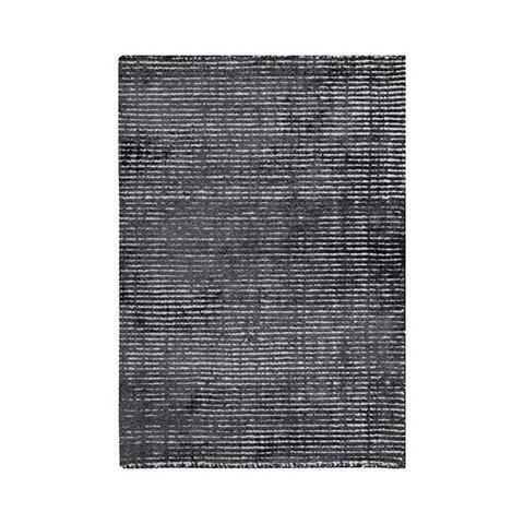 Hampton Charcoal White Wool Rug 200 x 290 cm