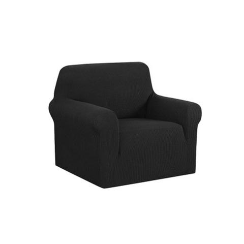 High Stretch Sofa Cover Couch Protector Slipcovers Black 3-Seater